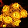LED Rose Flower Fairy String Lights Wedding Garden Party Christmas Room Decor