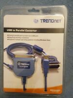 NEW Sealed TRENDnet USB 1.1 to Parallel Printer Cable Converter  TU-P1284