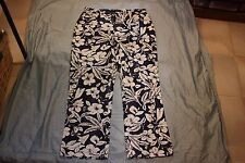 Bill Blass NWT Blue White Flowered Cotton Jeans S10 Lo Rise Boot Cut Perfect Fit