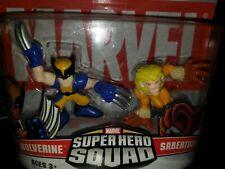 Hasbro Marvel Superhero Squad Sabertooth Wolverine 2 Figures Pack