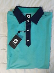 1 NWT FOOTJOY MEN'S POLO, SIZE: X-LARGE, COLOR: GREEN/NAVY (J59)