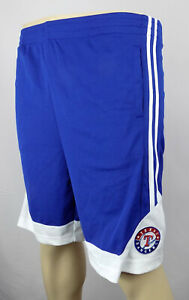 Texas Rangers Shorts Boys Medium 8 - 10 Blue Stitched Basbalel Shorts New ST05
