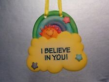 HANGING ORNAMENT BABY'S ROOM YELLOW CLOUD RAINBOW SIGN OF THE TIMES ENESCO NEW