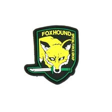 Metal Gear Solid FOX HOUND Special Forces Silicone HOOK  PATCH 2B2