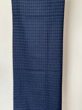 Pringle Of Scotland Men large navy diamond scarf 100% Extra Fine Merino Wool