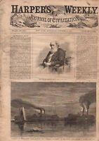 1867 Harper's Weekly October 5-Antietam Cemetery Dedication;Santee Indian;Nashua