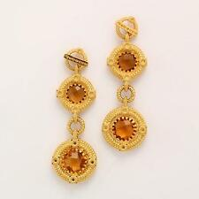 New Rebecca 5.62ctw Hydro Citrine Double Signature Ring Earrings