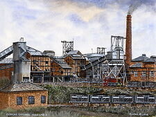 Elsecar Colliery  1905 - 1983 - Ltd Ed Print - Pit Pics - Coal Mining