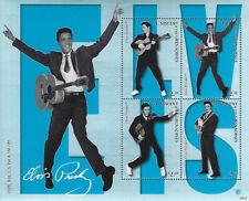 Elvis Presley $2.50 St Vincent & The Grenadines Souvenir Stamp Sheet 4 Stamps