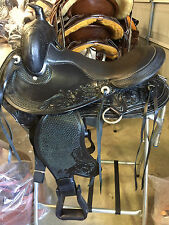 "TN Saddlery 16"" Gaited Western Saddle ""Lewisburg"" Black"