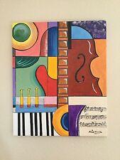 """""""Jazz 1966"""" tableau peinture acrylique sur toile"""