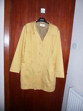 CC (Country Casuals) mustard cotton blend short fully lined coat size14