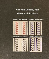 CW Hub Decals, 1 Pair - Choice of 3 colors