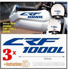 3x CRF 1000 L Blue Africa Twin HONDA 2016 ADESIVI CRF1000 L CRF1000L moto
