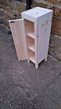 BESPOKE H60 W25 D25cm BEDSIDE HALL BATHROOM CUPBOARD TABLE UNTREATED PINE