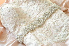 CARMEN BRIDAL SASH wedding belt Vintage Crystal Pearls Luxury Dress Rhinestone