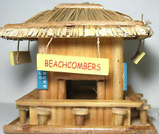 Attractive Beach Hangout Birdhouse, Made Out Of Wood, 8 1/4x8 1/4x7 3/4 High
