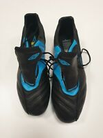 E532 MENS UMBRO SX BLACK BLUE FOOTBALL BOOTS UK 10 EU 44.5 US 11 BNWOT