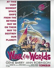 1953 Movie The War of the Worlds Ann Robinson  Autographed 8x10 color Photo