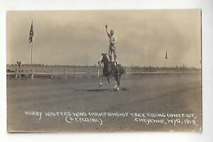 1919 Harry Walters Wins  Trick Riding Contest, Cheyenne, Wyoming RPPC