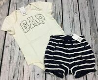 Baby Gap Girls 0 3 6 12 18 24 Months Logo Shirt & Shorts Cotton Outfit. Nwt
