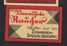 Ancienne étiquette  allumettes Allemagne BN104650 Cigare