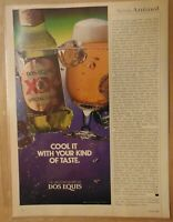 Vintage 1980's DOS EQUIS BEER Special Lager 1984 Original Print Ad Advertising