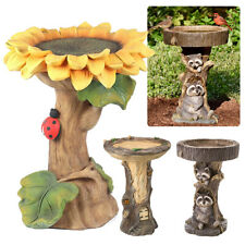More details for polyresin sunflower bird bath garden bird feeder resin art outdoor home decor