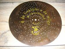 "Oh tu feliz Polyphon weihnachtsplatte 24,3cm Christmas Music Box 9 1/2"" Disc"