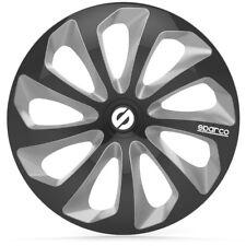 """Sparco SPC1473BKSV Set 4 copricerchi coppe auto Sicilia nero/silver 14"""""""