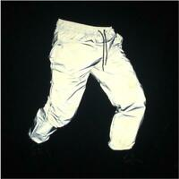 Hip-hop 3M Reflective Dance Pants Men Women Sports Cycling Jogging Trousers Hot