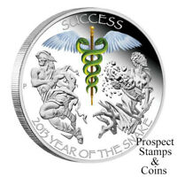 2013 Year of the Snake -Success 1oz Silver Proof Coin Perth ANDA Coin Show Issue