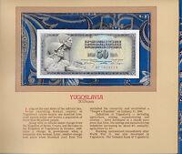 Most Treasured Banknotes Yugoslavia 50 Dinara 1968 P 83c UNC Prefix AP