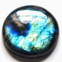 Cts 43.35 Natural Spectrolite blue Labradorite Cabochon Round Loose Gemstone
