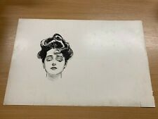 1902 CHARLES DANA GIBSON ANTIQUE LARGE DOUBLE-SIDED PRINT GIBSON GIRL #27