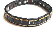 Authentic pure ION EFFECT Negative Ion Bracelet  BALANCE life Energy Black/GOLD