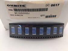 (3 pcs) MC102525005J Ohmite, 1.5 Watt 50M Ohm 5%,Metal Film Resistor,J-Lead(SMD)
