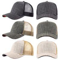 DJINNS Piki Leather Trucker Cap Mütze Kappe Meshcap Basecap Neu Cappy Caps Hat