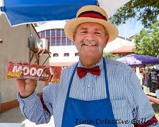 Blue Bell Ice Cream Man Holding a Moooo Bar - Giclee Photo Print