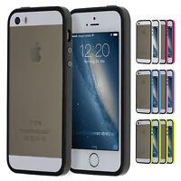TPU Bumper iPhone 5 5S SE Schutz Rahmen Hülle Silikon Schale Cover Case Folie