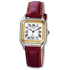 Men's Charles Hubert Leather Band White Dial Retro 32mm Watch XWA860