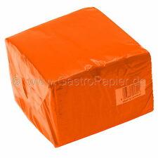 100 Servietten 2-lagig 25x25cm orange für Halloween und herbstlichen Tisch