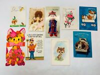 Vintage Greeting Cards Lot Get Well Soon Set Hallmark Rust Craft SET Y USED