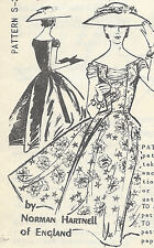 "1950s Vintage Sewing Pattern B36 1/2"" DRESS (E1304) By Norman Hartnell"