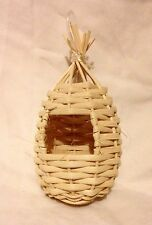 Small Closed Wicker Nest For Exotic Birds Ø 8 x 14cm H Breeding Nesting