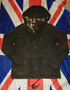 Rare*Dr Doc Martens British Millerain Brown Waxed Cotton Jacket Coat*Skin Punk*S