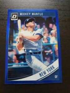 Mickey Mantle 2018 Donruss Optic Baseball Card Blue /149 MLB New York Yankees