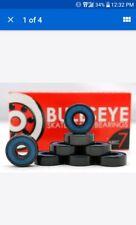BULLSEYE ABEC 7 Skateboard/Longboard Bearings skate 608 8mm Standard set of 8.