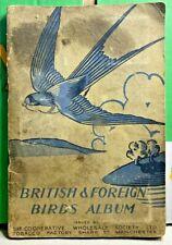More details for british & foreign birds album-1938-original set-cigarette cards-incomplete-1miss