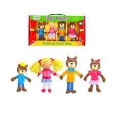 NEW Fiesta Crafts Wooden Goldilocks & the 3 Bears Storytelling Finger Puppet Set